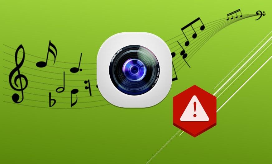 Ошибка «Приложение Камера записывает аудио»