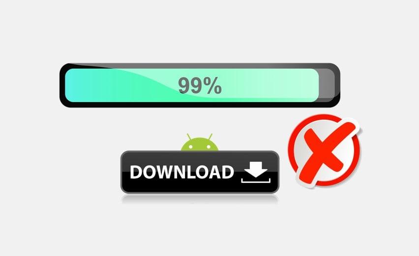 Как остановить загрузку на Android