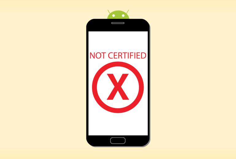 Устройство не сертифицировано